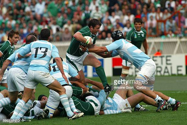 Donnacha O'Callaghan during the 2007 IRB World Cup rugby match between Ireland and Argentina.