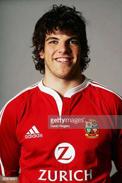 Donnacha O'Callaghan pictured during the British and Irish Lions Squad Photocall for the 2005 Tour to New Zealand on April 18 2005 in Cardiff Wales