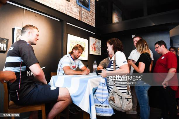 Donnacha Ryan and Dimitri Szarzewski new signing player of Racing 92 during press conference of Racing 92 on July 6 2017 in Paris France