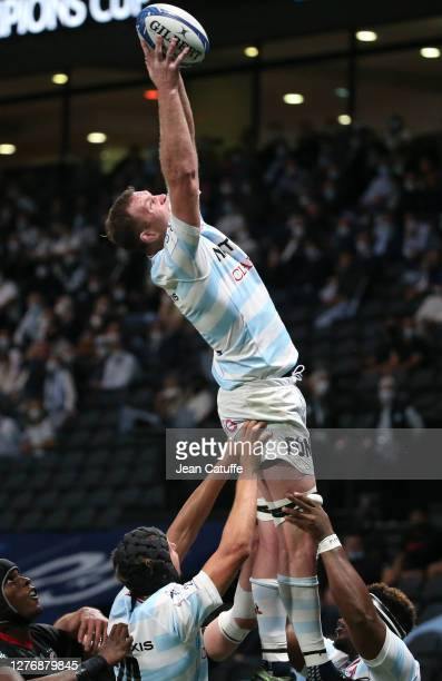 Donnacha Ryan of Racing 92 during the Heineken Champions Cup Semi Final match between Racing 92 and Saracens at Paris La Defense Arena on September...