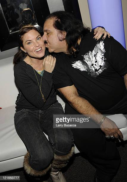 Donnamarie Recco and Ron Jeremy attend the Finding Bliss After Party at Hollywood Life House on January 18 2009 in Park City Utah