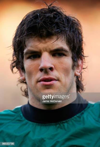 Donncha O'Callaghan of Ireland pictured prior to the Rugby Union International match between Ireland and Australia at Lansdowne Road on November 19...
