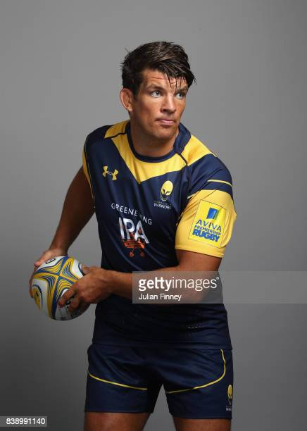 Donncha O'Callaghan of Worcester poses for a portrait during the Worcester Warriors Photocall for the 20172018 Aviva Premiership Rugby season at...