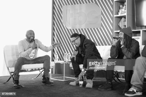 Donnell Rawlings Allen Maldonado and Patrick 'Cloud' Houston speak onstage during TBS Comedy Festival 2017 TBS All Def Digital Present Comedy Content...