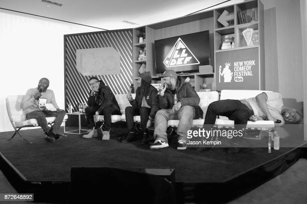 Donnell Rawlings Allen Maldonado Kevin 'KevOnStage' Fredericks Patrick 'Cloud' Houston and Anthony 'DoBoy' Belcher speak onstage during TBS Comedy...