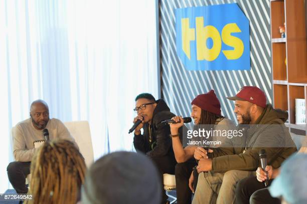Donnell Rawlings Allen Maldonado Patrick 'Cloud' Houston and Anthony 'DoBoy' Belcher speak onstage during TBS Comedy Festival 2017 TBS All Def...