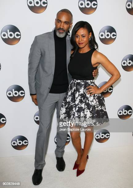 Donnell Turner and Vinessa Antoine attend the Disney ABC Television Group Hosts TCA Winter Press Tour 2018 on January 8 2018 in Pasadena California