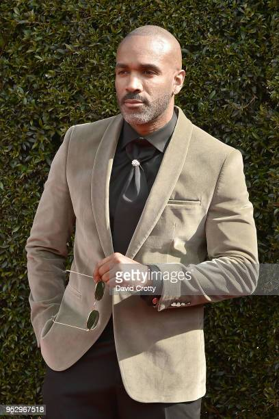 Donnell Turner attends the 2018 Daytime Emmy Awards Arrivals at Pasadena Civic Auditorium on April 29 2018 in Pasadena California