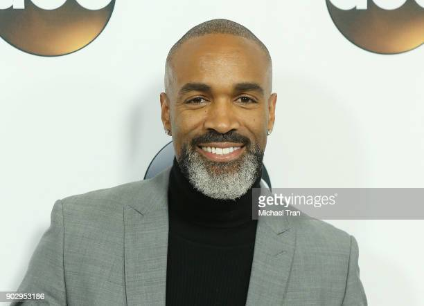 Donnell Turner attends the Disney ABC Television Group hosts TCA Winter Press Tour 2018 held at The Langham Huntington on January 8 2018 in Pasadena...