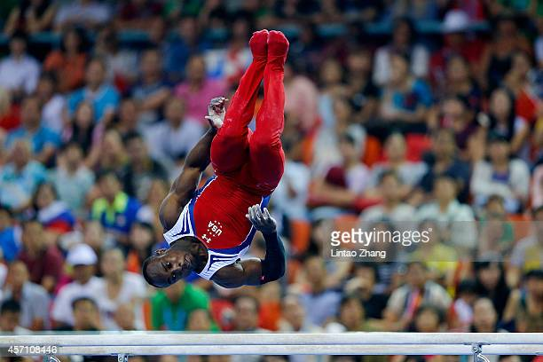 Donnell Whittenburg of United States performs on the Parallel Bars during the Men's Parallel Bars Final on day six of the 45th Artistic Gymnastics...