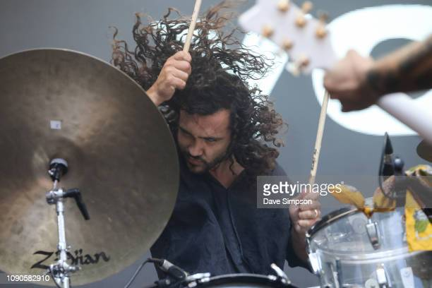 Donnie Borzestowski of Gang Of Youths performs on stage at St Jerome's Laneway Festival on January 28 2019 in Auckland New Zealand