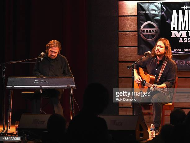 Donnie Fritts and John Paul White perform during the 16th Annual Americana Music Festival Conference Day 1 at City Winery on September 15 2015 in...