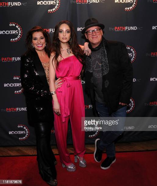 Donnie Kehr Dolly Fox and Alexa Ray Joel attend Rockers On Broadway 2019 at Le Poisson Rouge on November 11 2019 in New York City