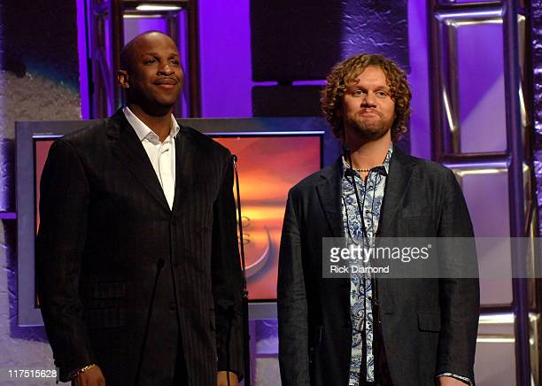 Donnie McClurkin and David Phelps during 37th Annual GMA Music Awards - Show at Grand Ole Opry in Nashville, TN, United States.