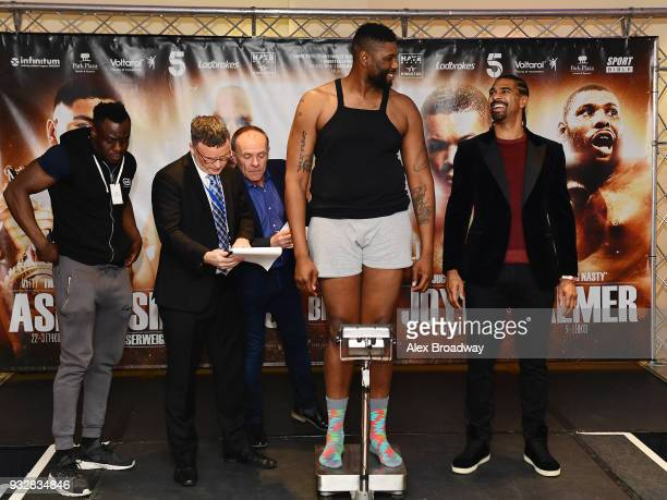 Donnie Palmer attends the Hayemaker Ringstar Weigh In at The Park Plaza Victoria on March 16 2018 in London England The Double Header Fight Night...