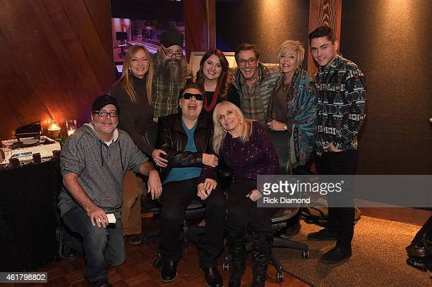 Donnie Reeves Yogi Milsap Todd Milsap Ronnie Milsap Kye Milsap Roy Powell Kay Powell Dylan Reeves and Joyce Milsap celebrate at Ronnie's Place on...