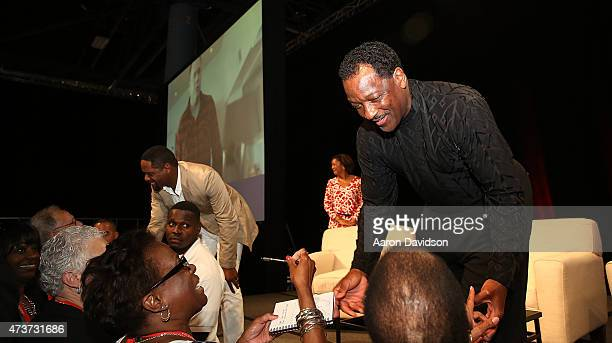 Donnie Simpson attends Reminiscing A Conversation about Hollywood Radio and Fame at the AARP Life@50 Expo at the Miami Beach Convention Center on May...
