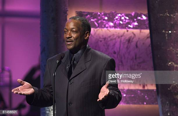 Donnie Simpson hosts Black Entertainment Television's 10th Anniversary Walk of Fame celebration honoring Smokey Robinson on October 9 2004 in...