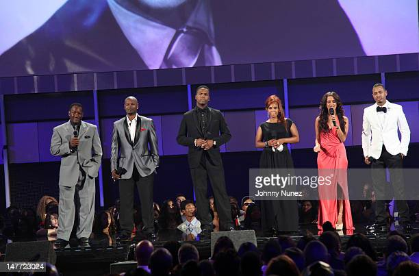 Donnie Simpson Tigger AJ Calloway Free Rocsi Diaz and Terrence J attend the 2012 BET Awards at The Shrine Auditorium on July 1 2012 in Los Angeles...