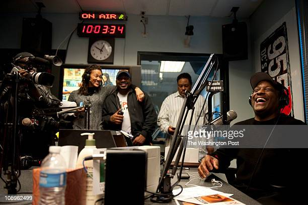 Donnie Simpson's last day of his popular radio morning show He's leaving after 32 years as a local radio personality Photos were taken January 29 2010