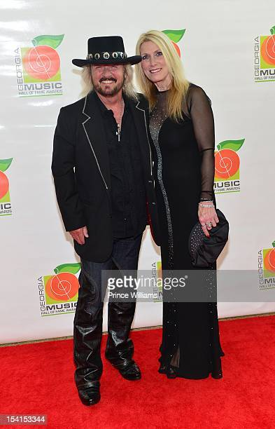 Donnie Van Zant and Ashley Van Zant attend the Georgia Music Hall of Fame awards at the Cobb Energy Performing Arts Center on October 14 2012 in...