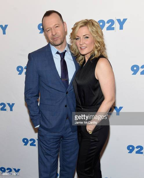 Donnie Wahlberg and Amy Carlson attend the Blue Bloods 150th Episode Celebration at 92nd Street Y on March 27 2017 in New York City