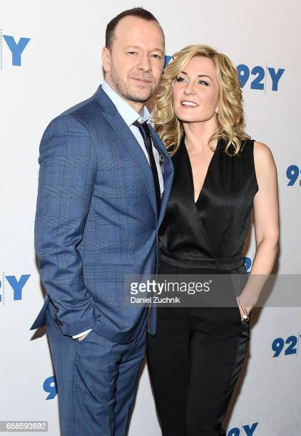 Donnie Wahlberg and Amy Carlson attend the Blue Bloods 150th episode celebration at 92Y on March 27 2017 in New York City