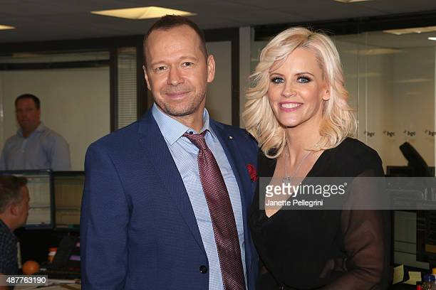 Donnie Wahlberg and Jenny McCarthy attend Annual Charity Day hosted by Cantor Fitzgerald and BGC at BGC Partners, INC on September 11, 2015 in New...