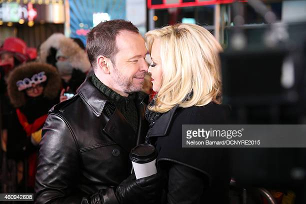 Donnie Wahlberg and Jenny McCarthy attend Dick Clark's New Year's Rockin' Eve with Ryan Seacrest 2015 on December 31, 2014 in New York City.