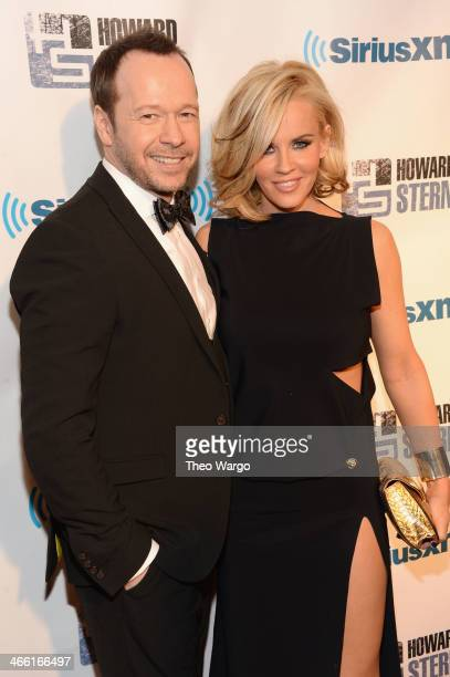Donnie Wahlberg and Jenny McCarthy attend Howard Stern's Birthday Bash presented by SiriusXM produced by Howard Stern Productions at Hammerstein...