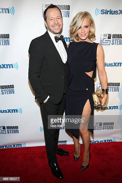 Donnie Wahlberg and Jenny McCarthy attend SiriusXM's Howard Stern Birthday Bash at Hammerstein Ballroom on January 31 2014 in New York City