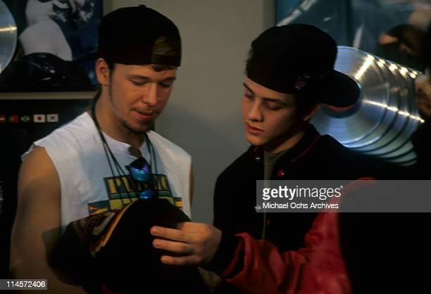 Donnie Wahlberg and Joey McIntyre of New Kids On The Block circa 1990