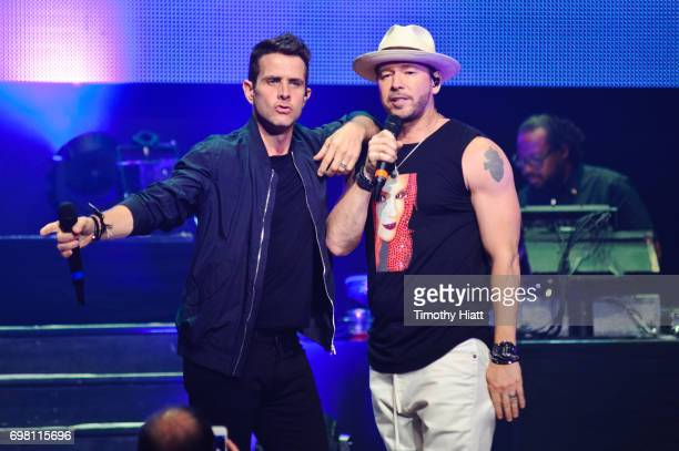 Donnie Wahlberg and Joey McIntyre perform at Generation Rescue's Go Home With Donnie Again on June 19 2017 in St Charles Illinois
