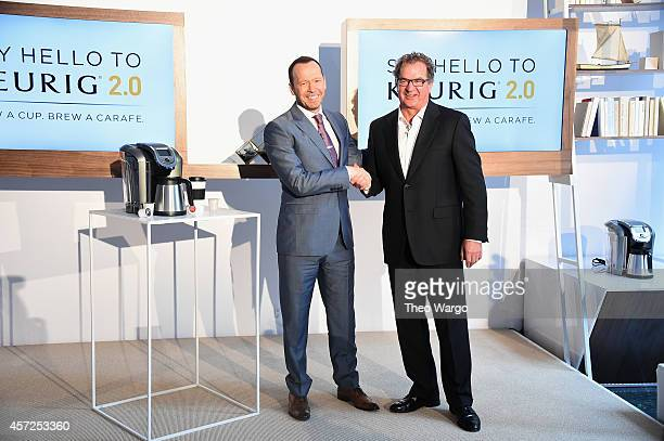 Donnie Wahlberg and John Whoriskey attend the Keurig 2.0 Launch Pop-Up Celebration on October 15, 2014 in New York City.