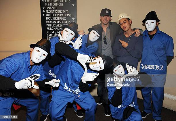 Donnie Wahlberg and The Jabbawockeez' aka JBWZ attend Jet Nightclub at The Mirage Hotel and Casino on May 29 2009 in Las Vegas Nevada