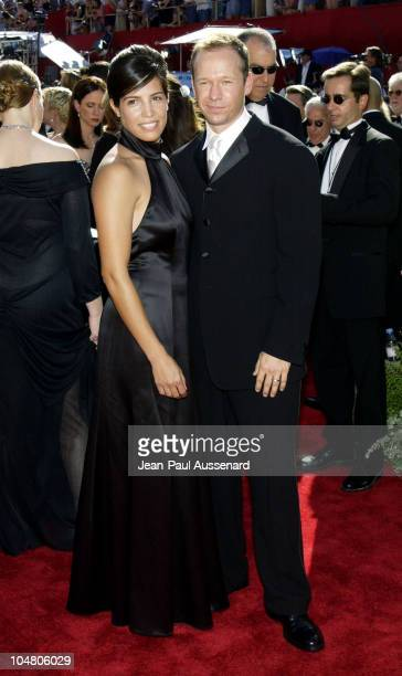 Donnie Wahlberg and wife Kim during The 54th Annual Primetime Emmy Awards - Arrivals at The Shrine Auditorium in Los Angeles, California, United...