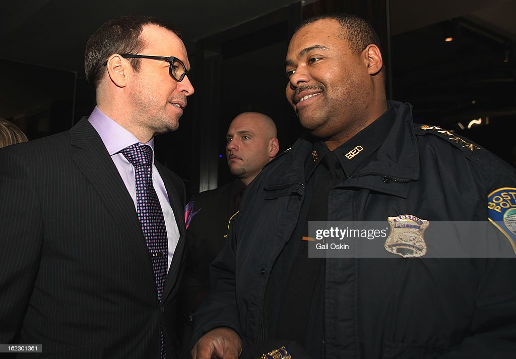 Donnie Wahlberg attends TNT's 'Boston's Finest' premiere screening at The Revere Hotel on February 20, 2013 in Boston, Massachusetts.