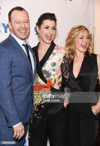 Donnie Wahlberg Bridget Moynahan and Amy Carlson attend the Blue Bloods 150th episode celebration at 92Y on March 27 2017 in New York City