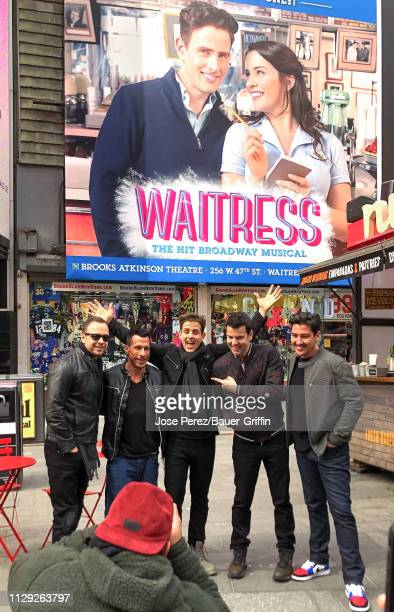 Donnie Wahlberg Danny Wood Joey McIntyre Jordan Knight and Jonathan Knight of New Kids On The Block are seen on March 08 2019 in New York City