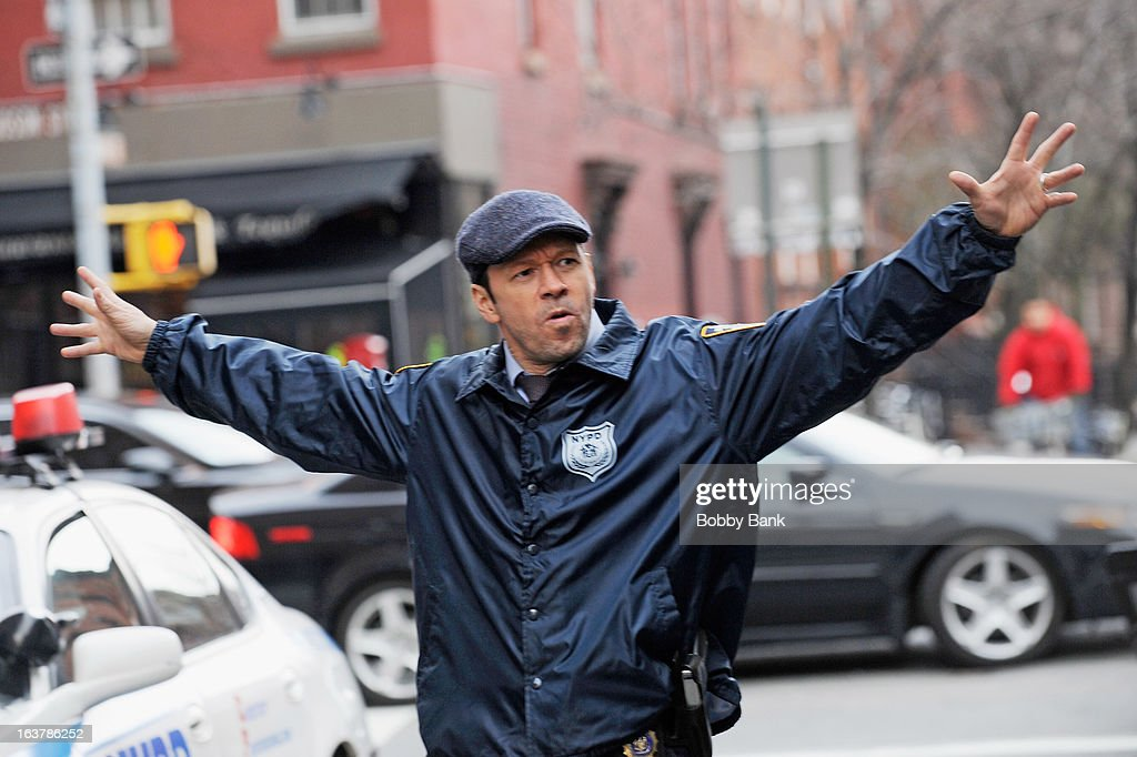 Donnie Wahlberg filming on location for 'Blue Bloods' on March 15, 2013 in New York City.