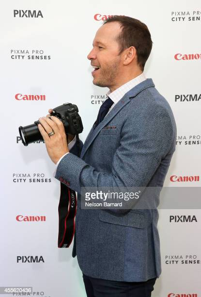 Donnie Wahlberg hosts the Canon PIXMA PRO City Senses Gallery in Boston on September 17 2014