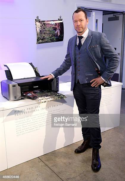 Donnie Wahlberg hosts the Canon PIXMA PRO City Senses Gallery in Boston on September 17, 2014.