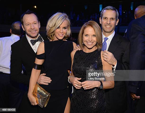 Donnie Wahlberg Jenny McCarthy Katie Couric and John Molner attend 'Howard Stern's Birthday Bash' presented by SiriusXM produced by Howard Stern...