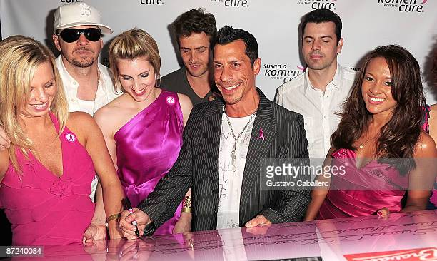 Donnie Wahlberg Joey McIntyre Danny Wood and Jordan Knight arrive at Danny Woods of New Kids On The Block birthday party to benefit Susan G Komen for...