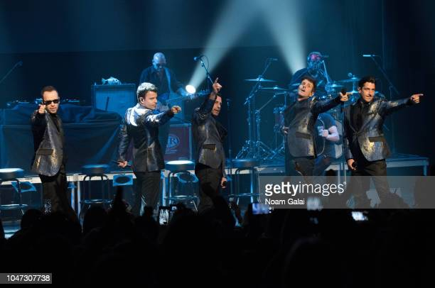 Donnie Wahlberg Jordan Knight Danny Wood Joey McIntyre and Jonathan Knight of New Kids On The Block perform in concert celebrating the 30th...