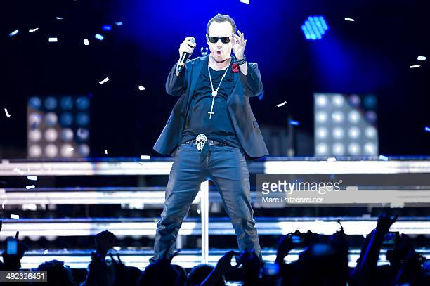 Donnie Wahlberg of American Boygroup New Kids On The Block performs during their 'Let's get Intimate Tour 2014' at the Palladium on May 19 2014 in...