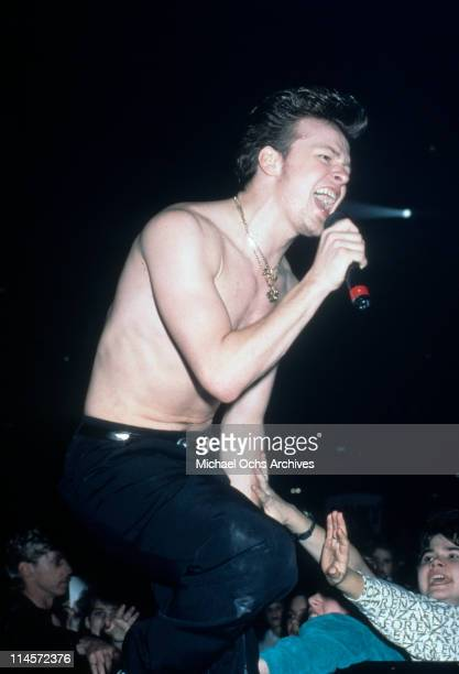 Donnie Wahlberg of New Kids On The Block performing circa 1990