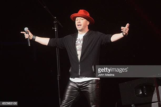 Donnie Wahlberg of New Kids On The Block performs during the 2017 iHeart80s Party at SAP Center on January 28 2017 in San Jose California