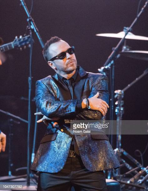 Donnie Wahlberg of New Kids On The Block performs in concert celebrating the 30th anniversary of 'Hangin Tough' at The Apollo Theater on October 7...