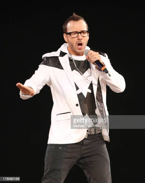 Donnie Wahlberg of New Kids On The Block performs onstage during 'The Package Tour' held at Staples Center on July 5 2013 in Los Angeles California
